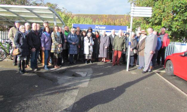 Shiela Sinclair Memorial Planter unveiled